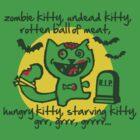zombie kitty, undead kitty, rotten ball of meat... by Cheesybee