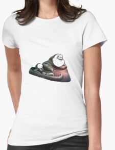 Jabba Alone Womens Fitted T-Shirt