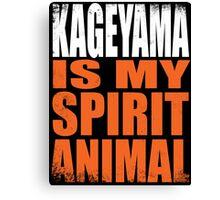 Kageyama is my Spirit Animal Canvas Print