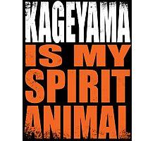 Kageyama is my Spirit Animal Photographic Print