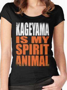 Kageyama is my Spirit Animal Women's Fitted Scoop T-Shirt