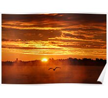 Sunrise over the St. Lawrence Poster