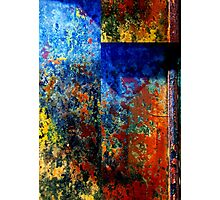 Modern Blue Abstract Photographic Print