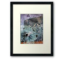 Bullet Hole Abstract Framed Print