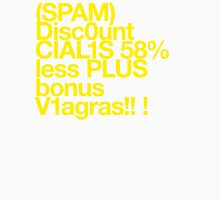 (Spam) Discount Cialis! (Yellow type) Unisex T-Shirt
