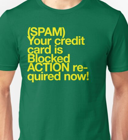 (Spam) Blocked! (Yellow type) Unisex T-Shirt