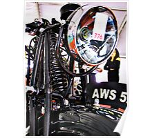 AWS 5. Vintage motorcycle front view Poster