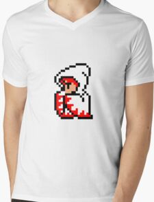 pixel white mage Mens V-Neck T-Shirt