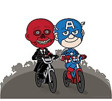 Red Skull & Captain America Photographic Print