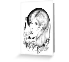 Mans Ruin Tattoo-Style Print Greeting Card