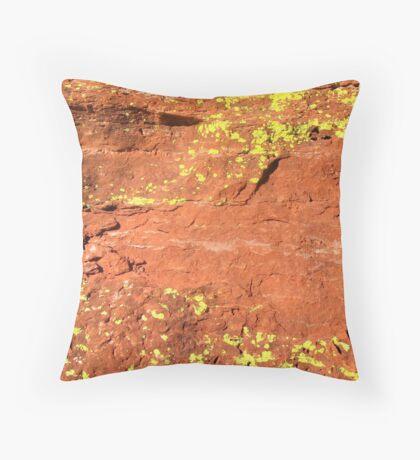 Lichen, Juniper, & Supai Sandstone #4 Throw Pillow