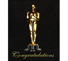 Oscars Congratulations Photographic Print