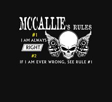 MCCALLIE Rule #1 i am always right. #2 If i am ever wrong see rule #1 - T Shirt, Hoodie, Hoodies, Year, Birthday T-Shirt