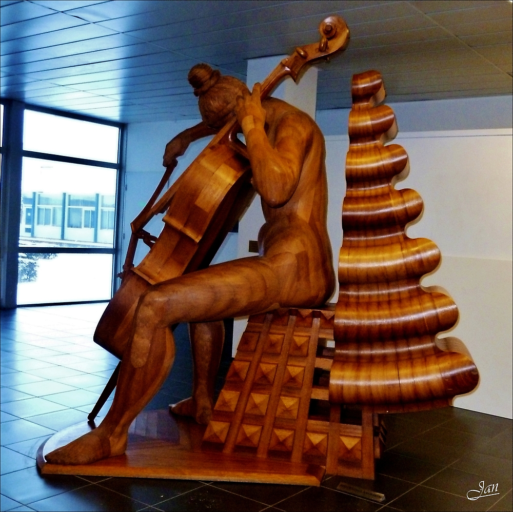 Wooden Sculpture by Janone