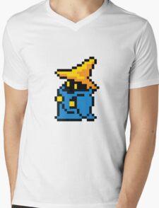 pixel black mage Mens V-Neck T-Shirt