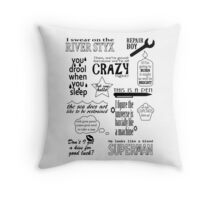 Heroes of Olympus Quotes Throw Pillow