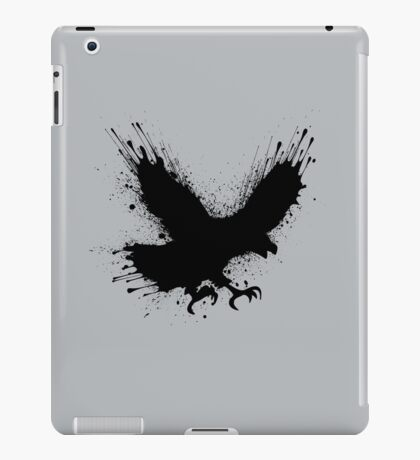 Abstract splashes of color - Street art bird (eagle / raven) iPad Case/Skin