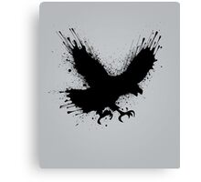 Abstract splashes of color - Street art bird (eagle / raven) Canvas Print