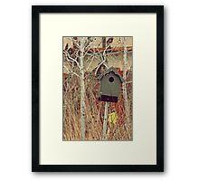 Brick Works Birdhouse Framed Print