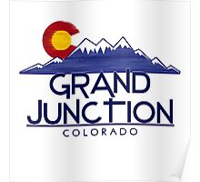 Grand Junction Colorado wood mountains Poster