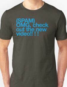 (Spam) OMG video! (Cyan type) T-Shirt