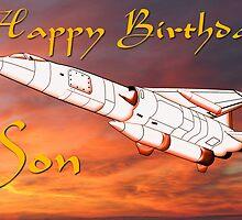 TSR2 - Happy Birthday Son card by Dennis Melling