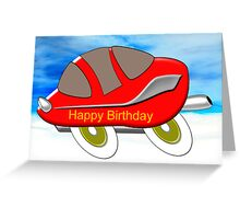 Red Racing Car - Happy Birthday card Greeting Card