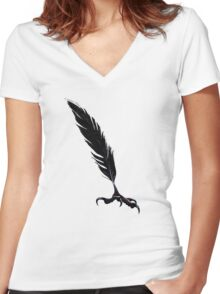 Carrion Quill Women's Fitted V-Neck T-Shirt