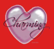 Charming. Digital Pixelated Mosaic Heart with Script by Weber Consulting