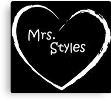 Mrs. styles WHITE LOVE Canvas Print