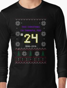 This Christmas I'm Thankful For #24 -- Kobe Bryant Retirement Ugly Sweater T-Shirt