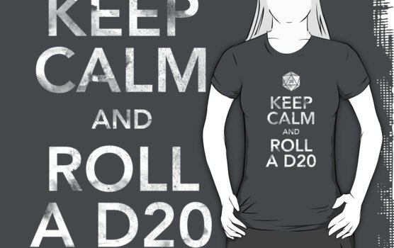 Keep Calm and Roll a D20 (White Text) by liminalbrains