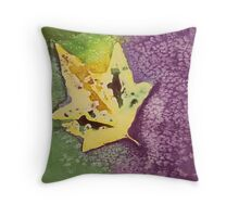 Cool Leaves Watercolor Throw Pillow