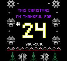 This Christmas I'm Thankful For #24 -- Kobe Bryant Retirement Ugly Sweater by TheTShirtMan