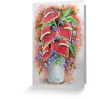 Tropical Flower Vase Greeting Card