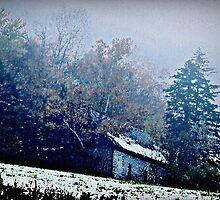 Gorham New Hampshire Winter Landscape by BavosiPhotoArt