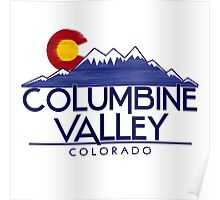 Columbine Valley Colorado wood mountains Poster