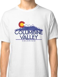 Columbine Valley Colorado wood mountains Classic T-Shirt