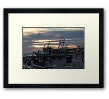 boat chaos Framed Print
