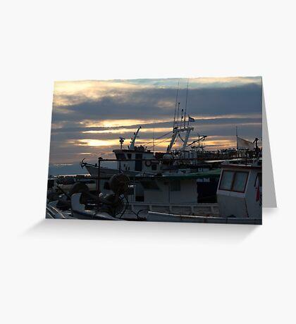 boat chaos Greeting Card