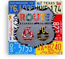 Route 66 License Plate Art Canvas Print