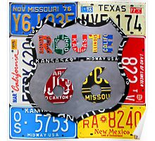 Route 66 License Plate Art Poster
