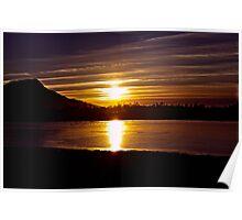 Fraser Valley Sundown Poster