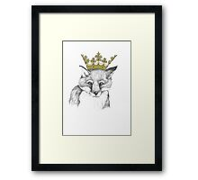 Crowned Fox Framed Print