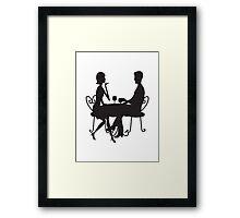 Couple Silhouette Framed Print