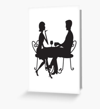 Couple Silhouette Greeting Card