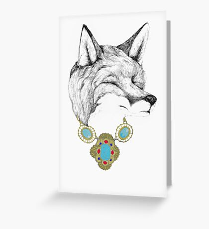 Fox Necklace Greeting Card