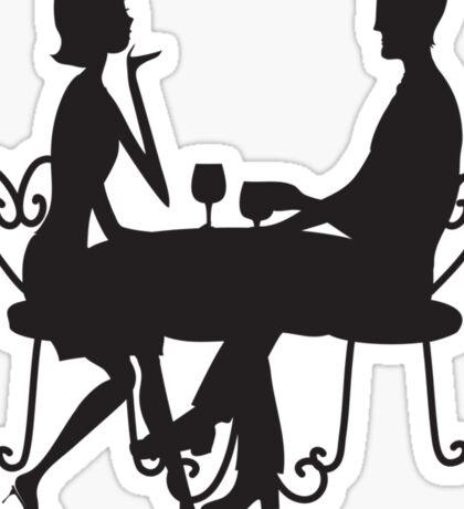 Couple Silhouette Sticker