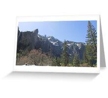 Yosemite Mountain Range Greeting Card
