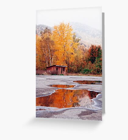 Multi-Colored Mud Puddle Greeting Card
